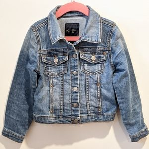 2/$20 Jessica Simpson girl's jean jacket sz 5